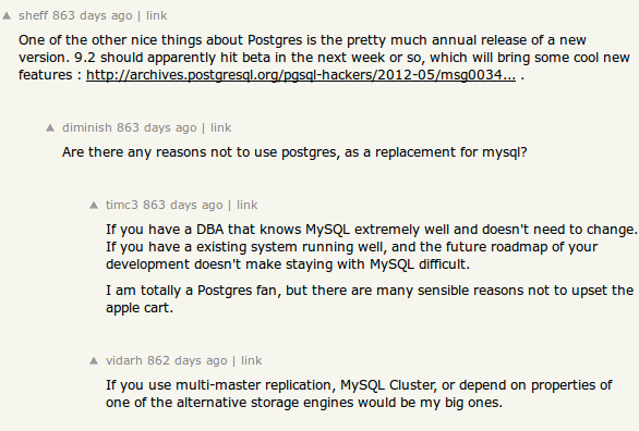 hacker news comments